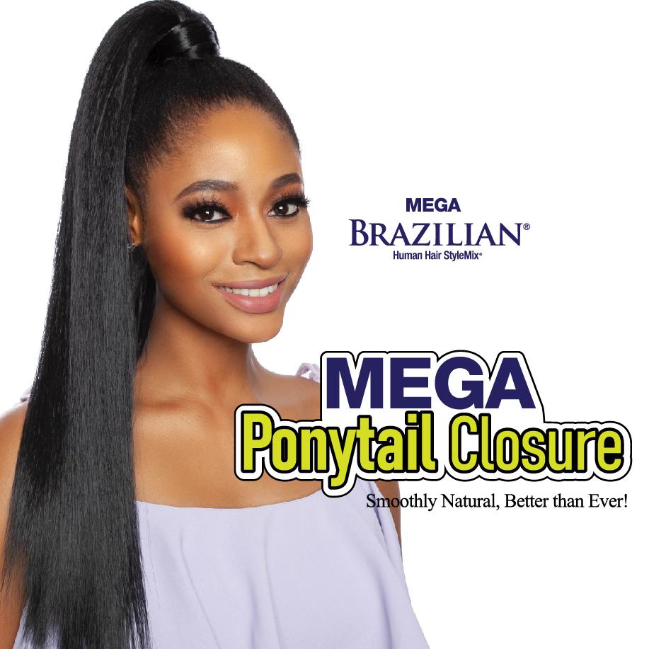 MEGA BRAZILIAN PONYTAIL CLOSURE